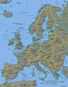 backpacking through europe map