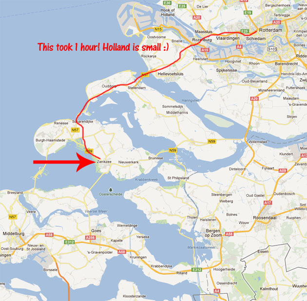 Driving To Zierikzee - The Map