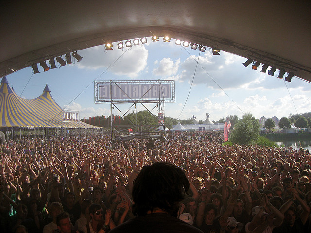 Photo of the crowds at Lowlands Festival in The Netherlands in Europe