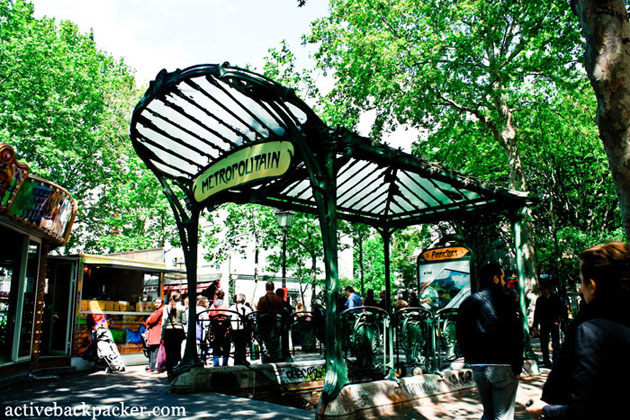 The Abbesses Metro Stop In Montmartre