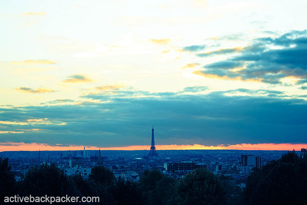 View of the Eiffel Tower from Belleville, Paris