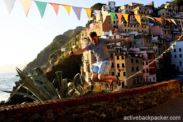 Tom Jumping in Rio Maggiore