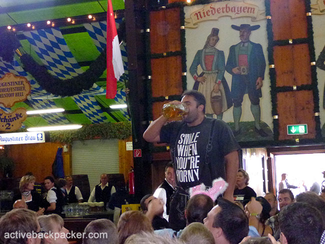 Augustiner Oktoberfest Beer Chug