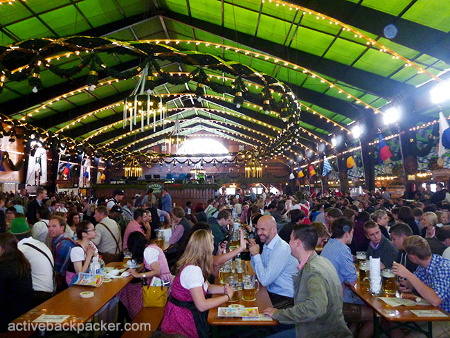 Inside The Augustiner Beer Tent