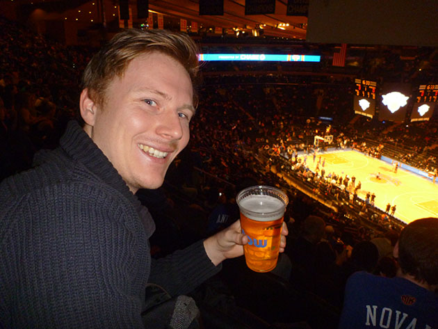 Watching The New York Knicks Madison Square Garden From