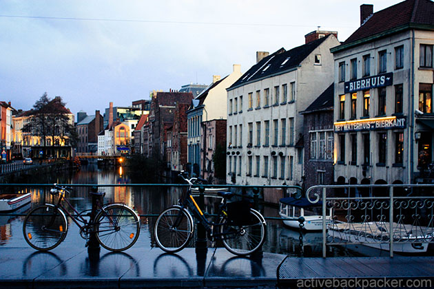 What To Do In Ghent - Bicycles on a bridge in Ghent