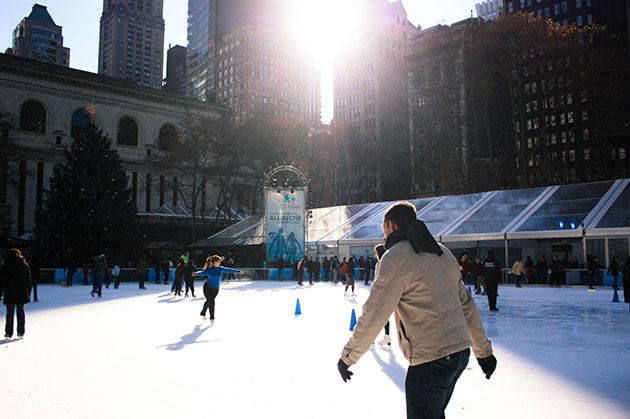 Ice Skating at Bryant Park