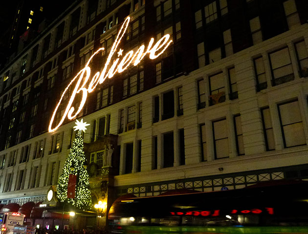 Macys at Christmas In NYC