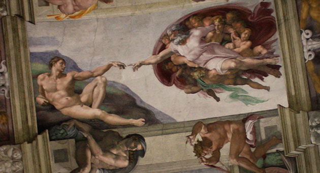 Sistine Chapel Fresco by Michaelangelo