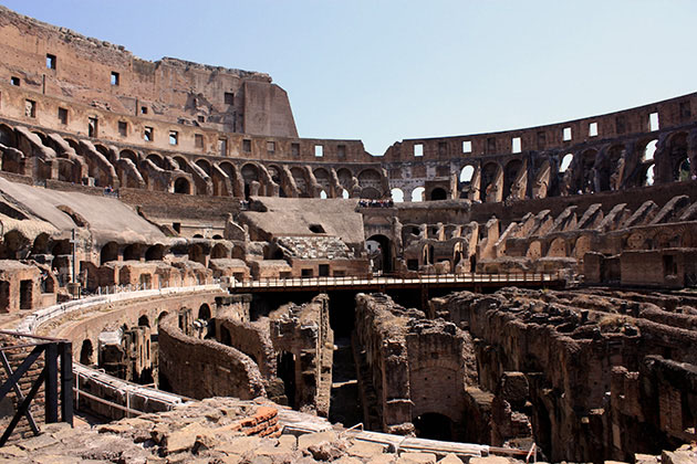 Inside the Collosseum