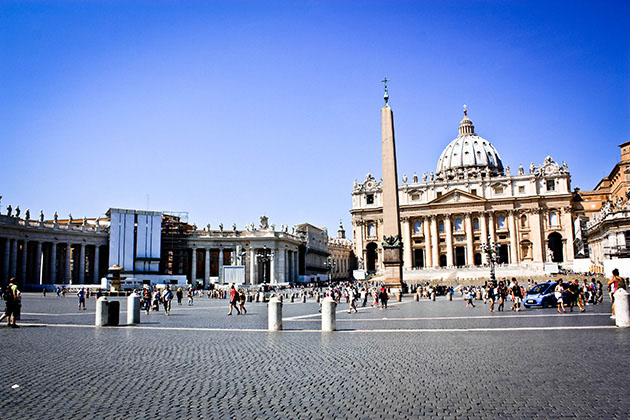 Square of Vatican City in Rome