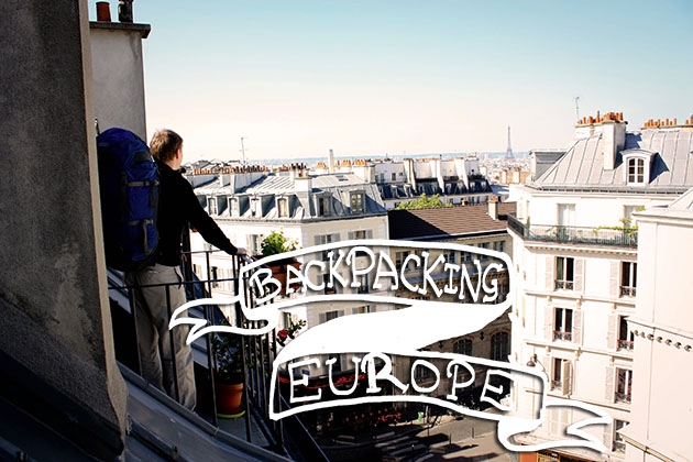 Backpacking Europe Pin