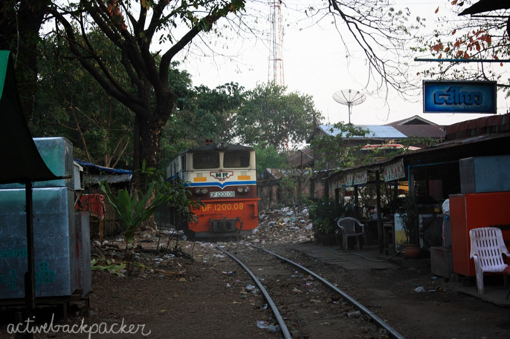 City Train Rubbish Yangon