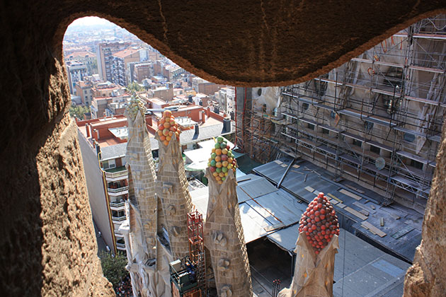 Climbing Sagrada Familia