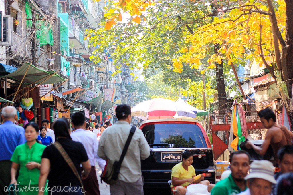 Colourful Yangon in Myanmar