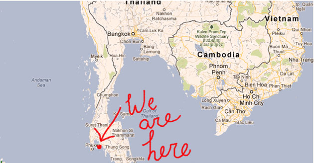 Where Ao Nang is in Thailand