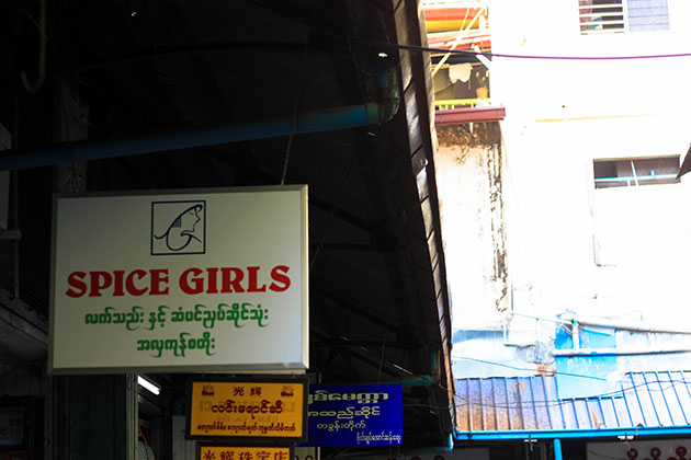 Spice Girls Sign in Myanmar