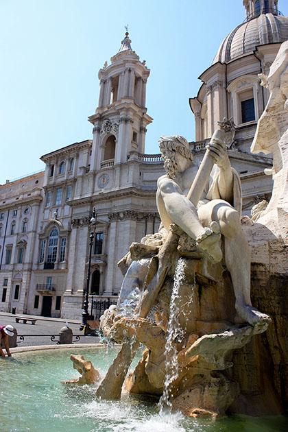Statue Fountain Rome