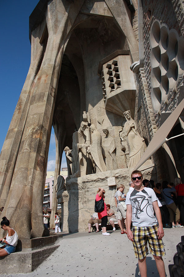 Tom at Sagrada Familia