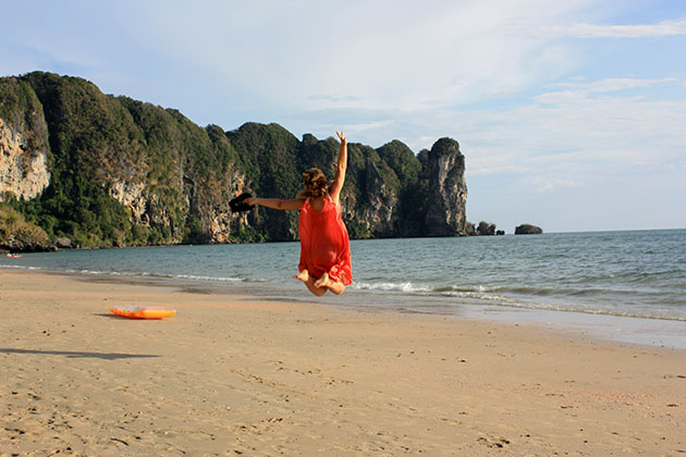Jumping at Ao Nang in Krabi