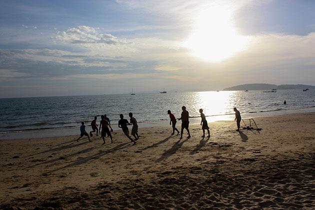 soccer beach Thailand