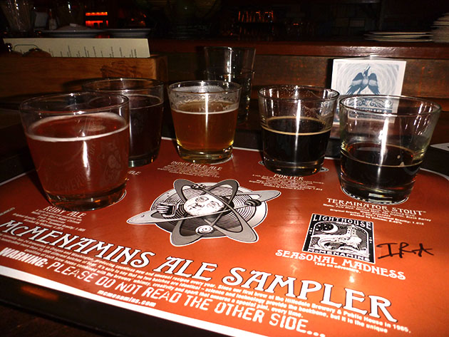 McMenamins Beer Sampler Tray