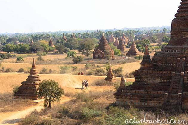 Bagan Monks and Horse Carts