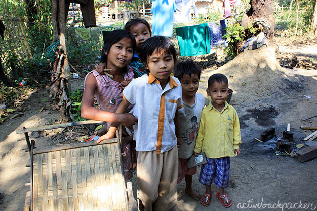 Myanmar Kids In Village Taungoo