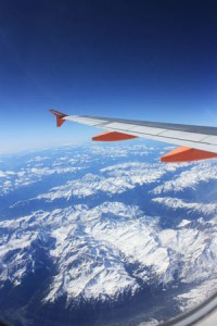 Photo From A Flight Whilst Backpacking In Europe