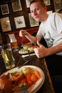 A Pie and Drinks At A London Pub