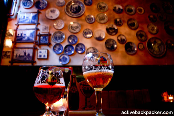 Belgium Beers In A Dutch Brown Cafe