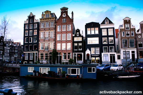Amsterdam And A Houseboat