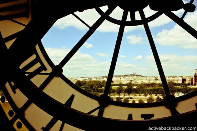 View From Train Clock