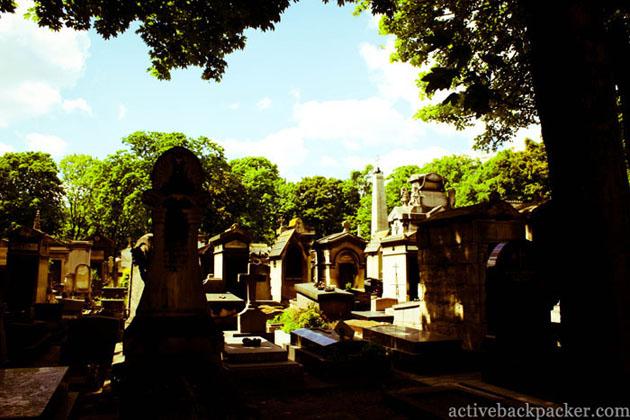 The Montmartre Cemetery in Paris
