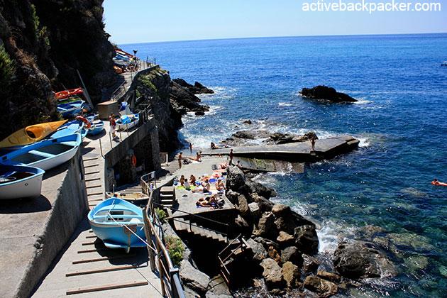 Swimming area at Corniglia
