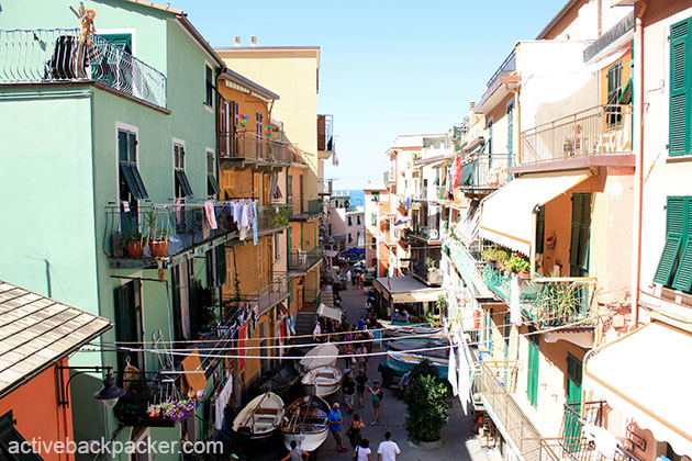 A view of central Manarola