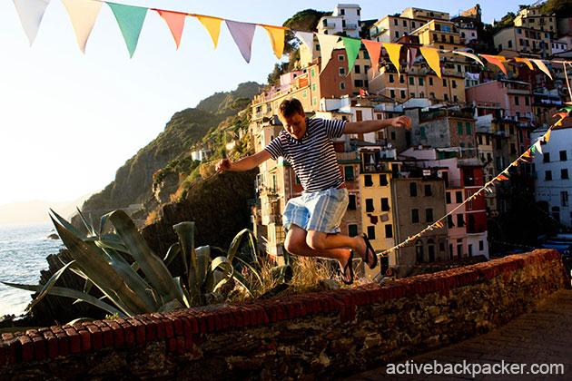 Tom Jumping in Rio Maggiore