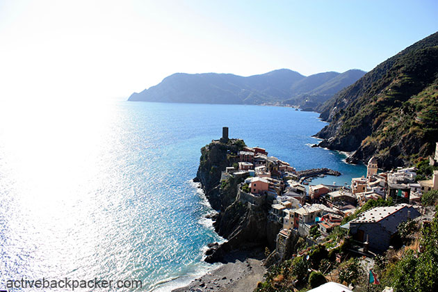 A view of Vernazza from up on the hill