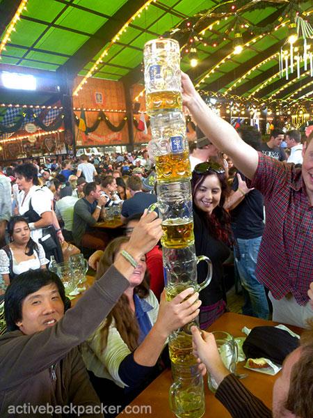 Pillar of Beer in Augustiner Tent