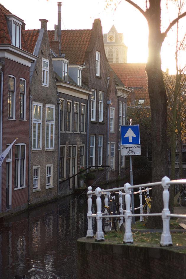 Sun Setting Canal Delft