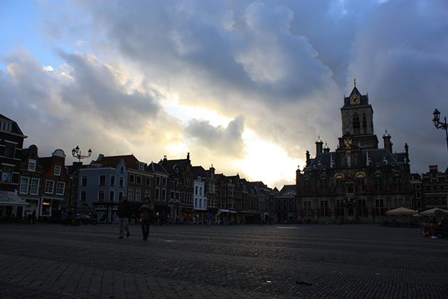Delft As The Sun Sets