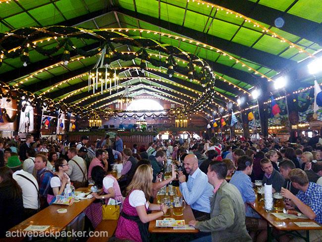 Inside The Augustiner Beer Tent