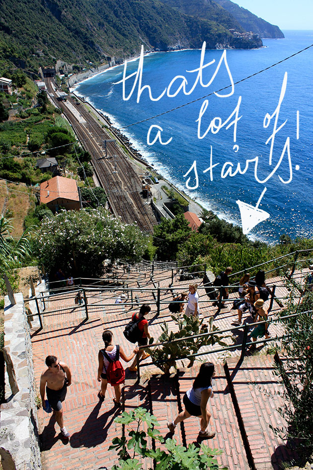 Lots of Stairs Up To Corniglia in Cinque Terre
