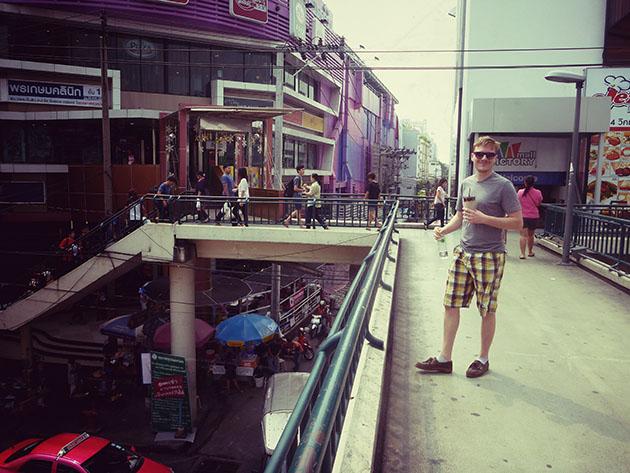 Tom at the Bangkok Monument Shopping Mall