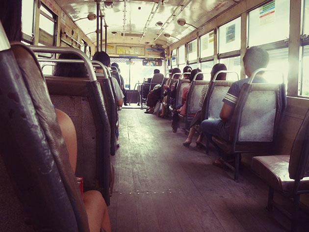 Public Bus Trip in Bangkok