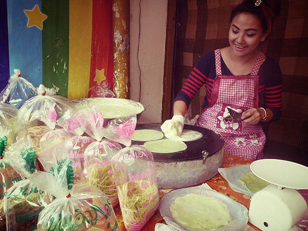 Girl in Bangkok with Thai Fairy Floss