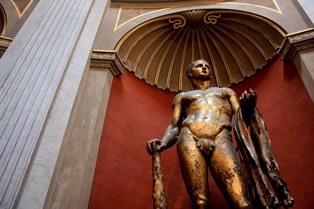 Statue inside the vatican museum.