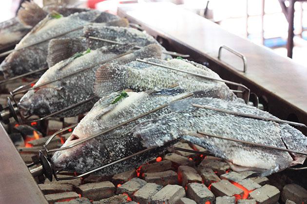 Fish Over Hot Coals