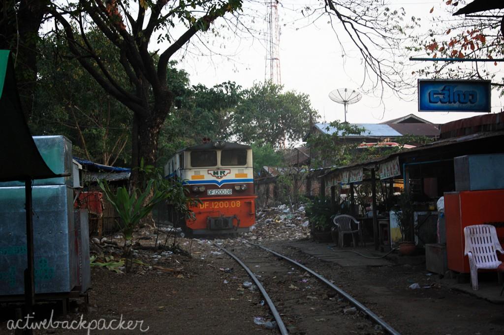 City Train Rubbish Yangon