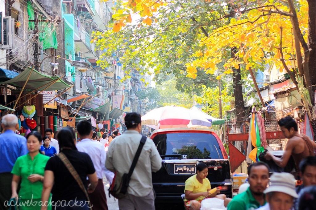 Colourful Yangon in Myanmar